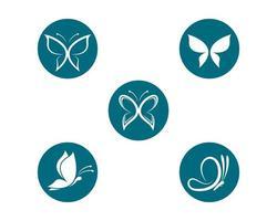 vlinder logo sjabloon set