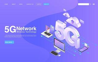5G Network Wireless Technology Concept vector