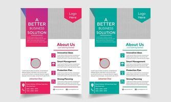 Creative business solution corporate flyer set vector