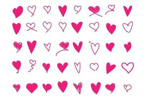 Collection of heart icons vector