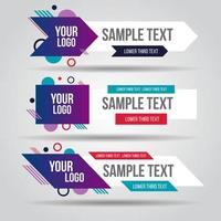 televisor blanco y colorido o conjunto de banners de redes sociales vector