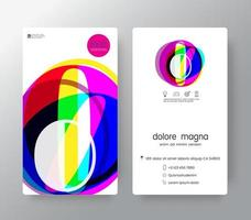 Logo Number 0 Business Card Template