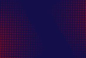 Red and blue halftone background  vector