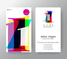 Logo Number 1 Business Card Template