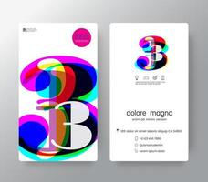 Logo Number 3 Business Card Template