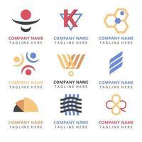 conjunto de design de logotipo da empresa vetor