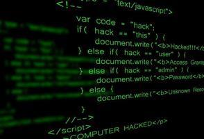 code de piratage informatique vecteur