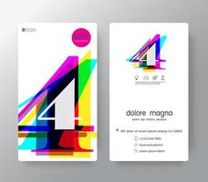 Logo Number 4 Business Card Template