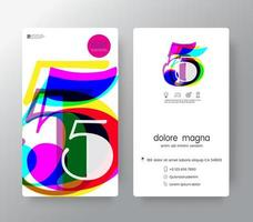 Logo Number 5 Business Card Template