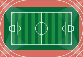 vista aérea de un campo de fútbol vector