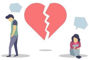 Illustration of heartbroken people vector