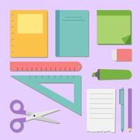Colorful stationery supplies