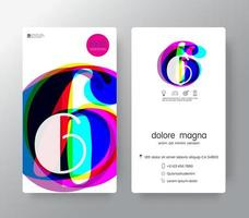 Logo Number 6 Business Card Template
