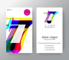 Logo Number 7 Business Card Template