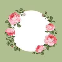 quadros florais em branco