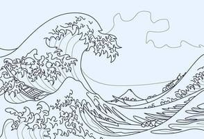 The Great Wave of Kanagawa coloring page