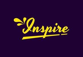 Inspire word typography  vector