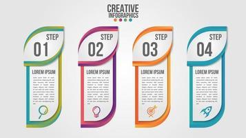 Infographic modern timeline steps  vector