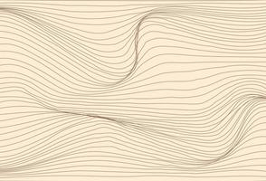 Wave textured cream background vector