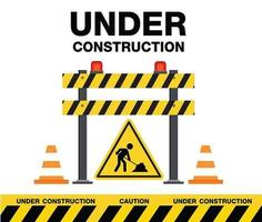 Under Construction Sign and Elements vector