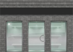 Gray brick loft style facade