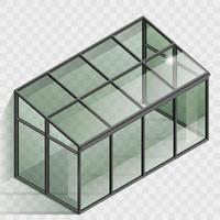 Greenhouse or winter garden element vector