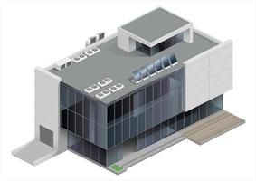 Shopping mall building in isometric view