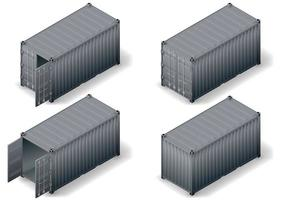 Set of cargo containers vector