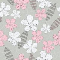 Cute hand drawn floral pattern