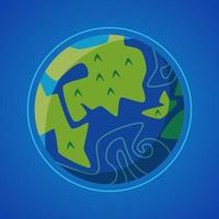 Earth globe isolated graphic illustration vector