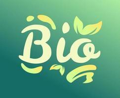 el vector de tipografía bio palabra