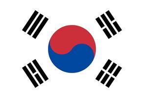 Illustration of South Korea flag vector