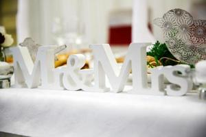 "Sign for wedding ""MRS"" & ""MR"" photo"