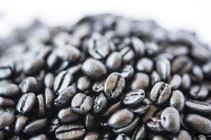 Dark coffee beans