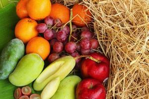 Various fruits.