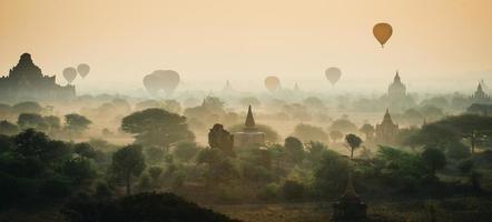 Sunrise in Bagan, Myanmar photo