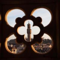 palazzo vecchio desde el campanario de giotto foto