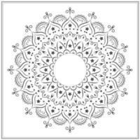 Black and white star mandala vector