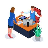 empresarios resolviendo problemas en el espacio de trabajo