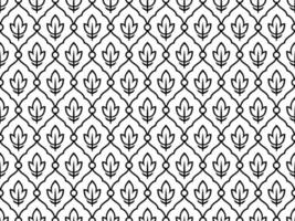 Black and White Seamless Ethnic Vintage Pattern