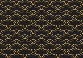 Seamless Ethnic Seigaiha Geometric Pattern vector