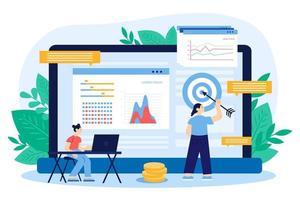 design plano de dados da bolsa de valores vetor