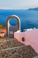 hermosos detalles de la isla de santorini, grecia foto
