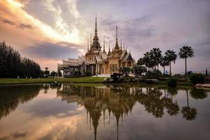 scenes landscape  Non Kum temple in bangkok ,thailand
