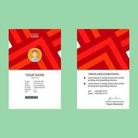 Red Orange Triangles Corporate ID Card Template
