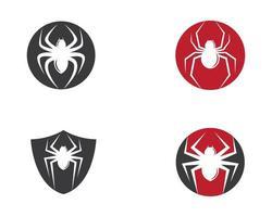 símbolos de logotipo de araña de círculo vector