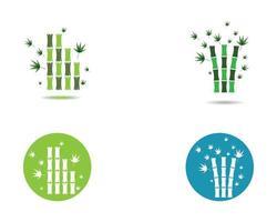 iconos de madera de círculo y bambú vector