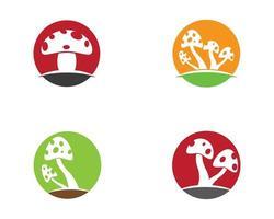 Multicolor Circle Mushroom Logos