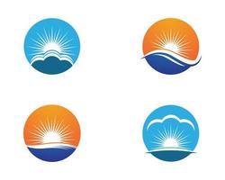 logos de symbole été cercle vecteur