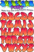Bubblegum Graffiti Font vector
